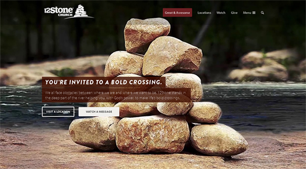12 stone church website design - Church Website Design Ideas
