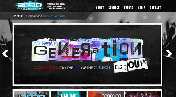 Good 20 20 Generation Church Website Design