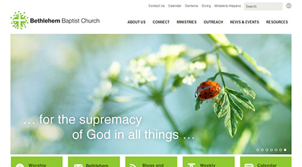 bethlehem baptist church website church website design ideas - Church Website Design Ideas