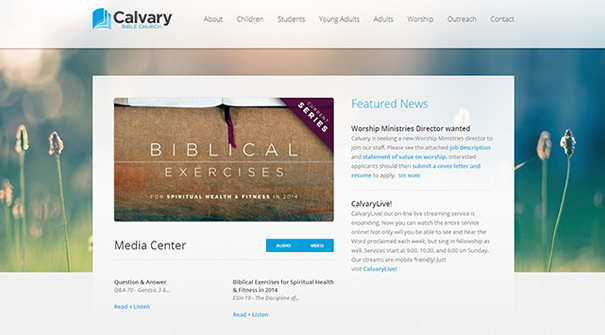 calvary-bible-church-website-design
