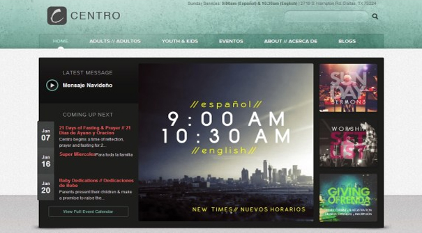 centro-cristiano-church-website-design