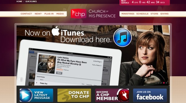 church-of-his-presence-website-design