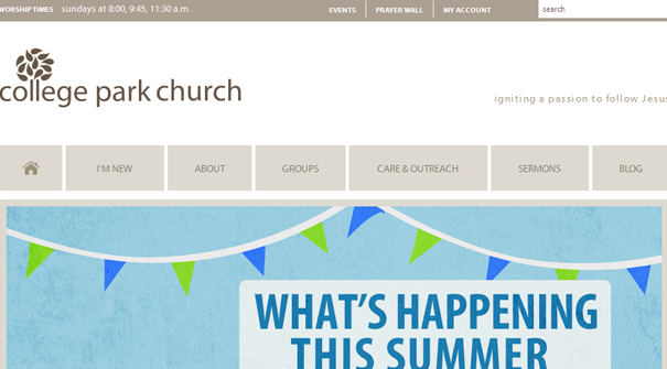college-park-church-website-design