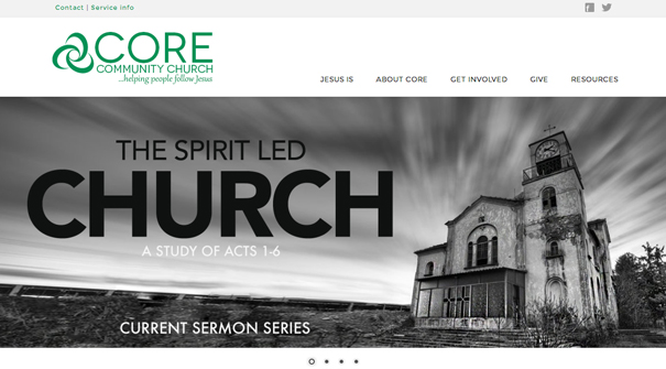 core-community-church-website-design