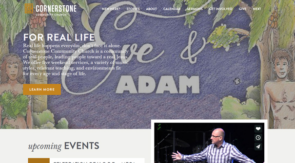 cornerstone-community-church-website-design