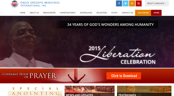 david-oyedepo-ministries-int-inc-website-design