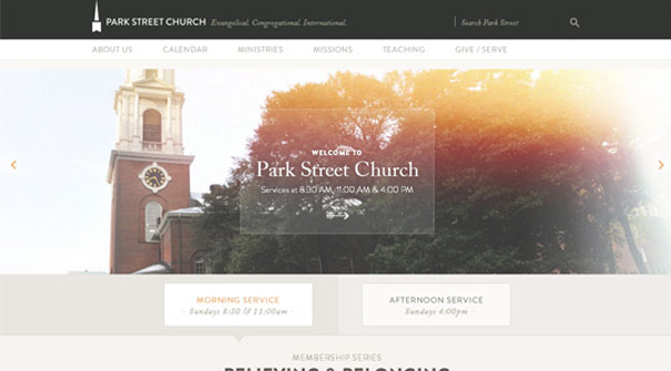park-street-church-website-design