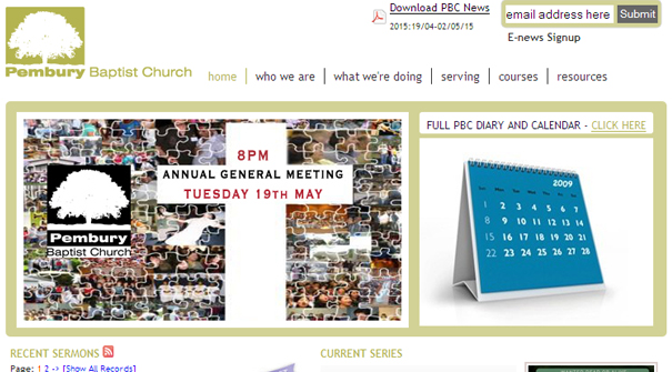 pembury-baptist-church-website-design