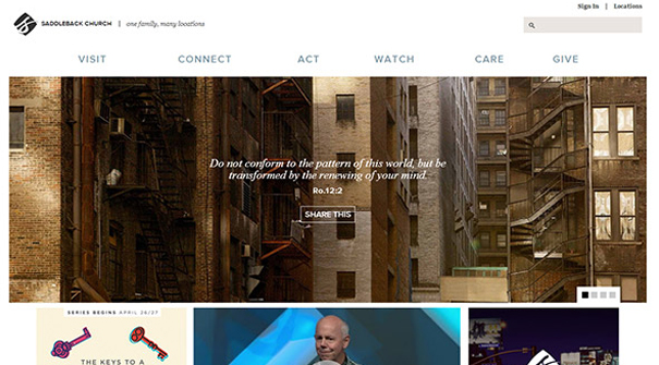 saddleback-church-website-design