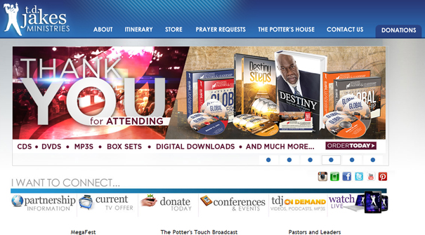 td-jakes-ministries-website-design