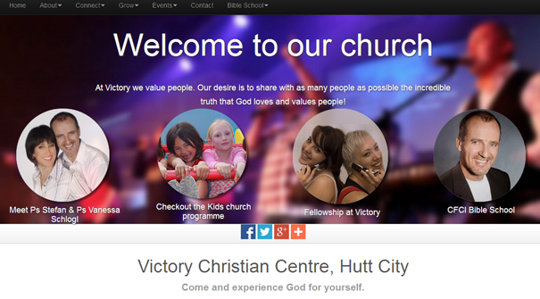 victory-christian-centre-website-design