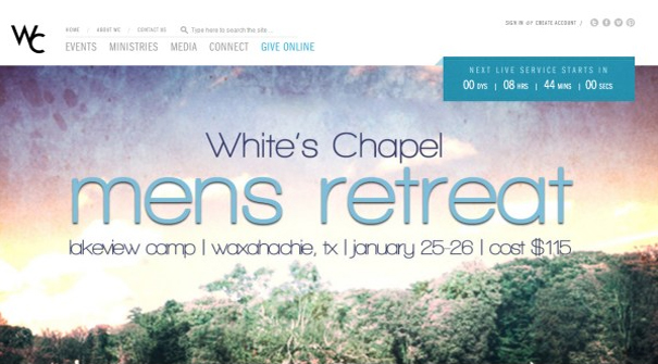 whites-chapel-website-design