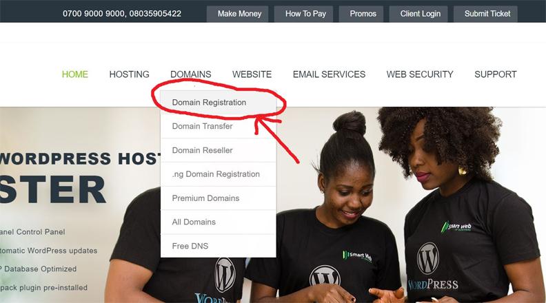 Register Domain Nigeria